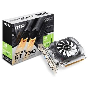 Placa de Vídeo MSI NVIDIA GeForce GT 730 4GB, DDR3 - N730-4GD3V2