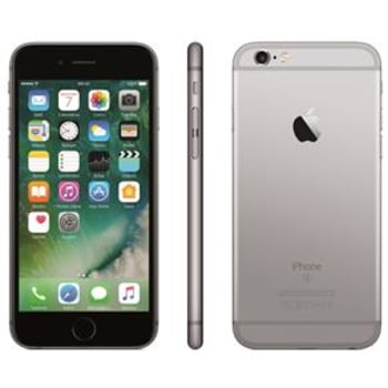 "iPhone 6s Apple com Tela 4,7"" HD, 128GB, 3D Touch, iOS 9, Sensor Touch ID, Câmera iSight 12MP, Wi-Fi, 4G, GPS, Bluetooth e NFC - Cinza Espacial"