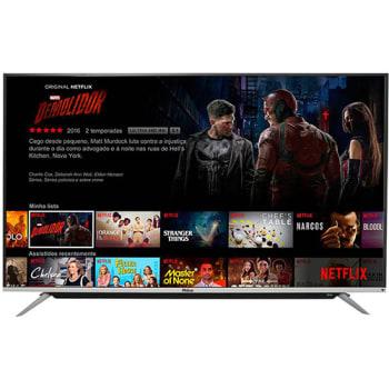 """Smart TV LED Android 65"""" Philco PH65G60DSGWAG Ultra HD 4K com Conversor Digital 3 HDMI 2 USB com Google 60hz - Preta"""