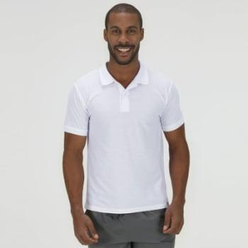 Camisa Polo Oxer Básica Terry - Masculina (Branca e Azul Escuro)