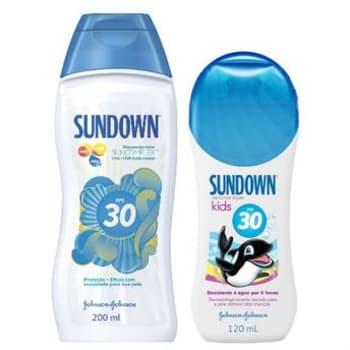 Kit Protetor Solar Sundown FPS30 200ml Grátis Protetor Solar Sundown Kids 120ml
