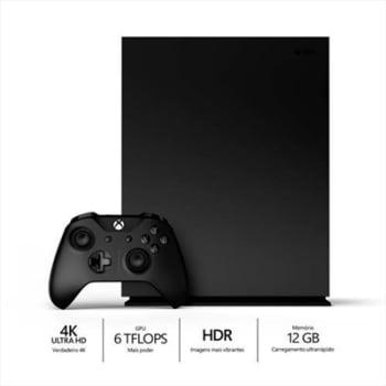 Console Xbox One X 1TB 4K Com Controle Sem Fio CYV-00006 Bivolt Preto