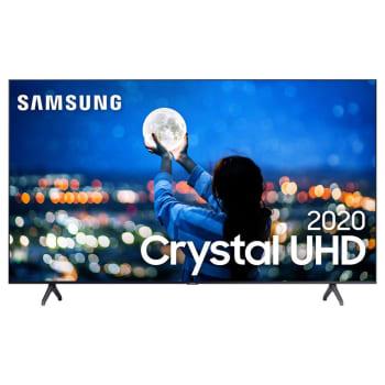 "Samsung Smart TV Crystal 43"" UHD 4K 2020 TU7000 Bluetooth Borda ultrafina Cinza"