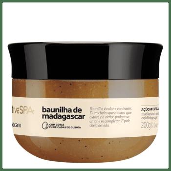 Nativa SPA Baunilha de Madagascar Açúcar Esfoliante Óleo Desodorante 200g