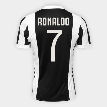 Camisa Juventus Home 17 18 nº 7 Ronaldo - Torcedor Adidas Masculina -  Branco e Preto 0f2c7521fe635
