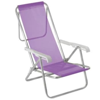 Cadeira 8 posições Alumínio Sannet Lilás MOR
