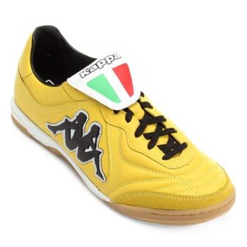 Chuteira Futsal Kappa Pelle Couro - Amarelo