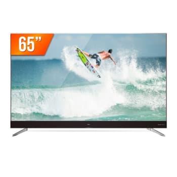 Smart TV LED 65'' Ultra HD 4k Semp TCL 65C2US HDMI USB Android TV Wi-Fi Integrado Conversor Digital