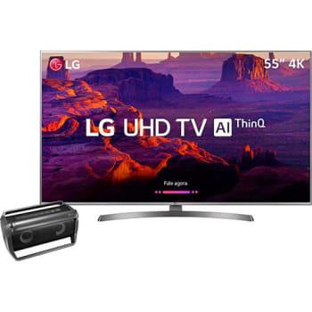 Smart TV LED 55'' Ultra HD 4K LG 55UK6530 + Caixa de som Bluetooth Speaker Pk5 LG