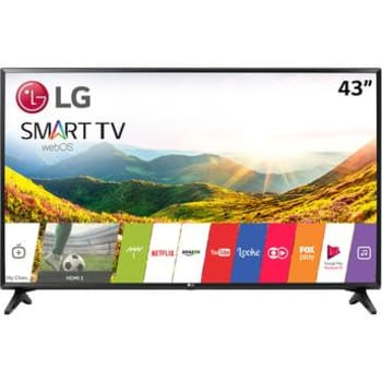 "Smart TV LED 43"" LG 43LJ5500 Full HD com Conversor Digital 2 HDMI 1 USB Wi-Fi Integrado webOS 3.5"