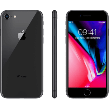 "iPhone 8 64GB Cinza Espacial Tela 4.7"" IOS 4G Câmera 12MP - Apple"