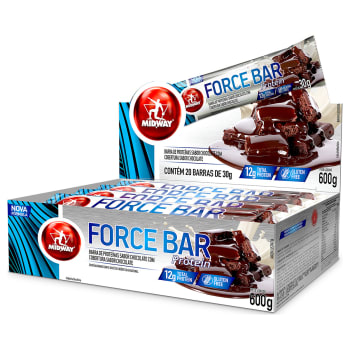 LEVE 4 PAGUE 3: Force Bar Protein 20 Un. 30g - Midway