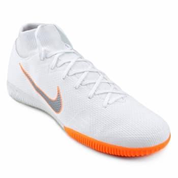 Chuteira Futsal Nike Mercurial Superfly 6 Academy - Branco e Cinza