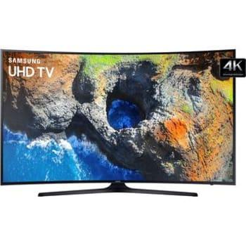 "Smart TV LED Curva 55"" Ultra HD 4K Samsung 55MU6300 com Conversor Digital 3 HDMI 2 USB Wi-Fi Integrado Plataforma Smart Tizen"