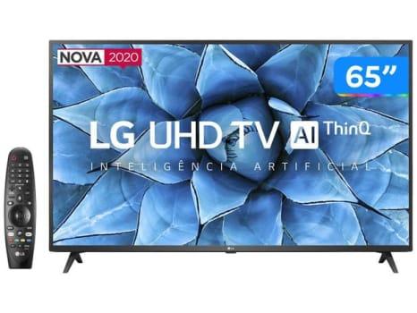 "Smart TV UHD 4K LED IPS 65"" LG 65UN7310PSC Wi-Fi - Bluetooth HDR Inteligência Artificial 3 HDMI 2 USB - Magazine Ofertaesperta"