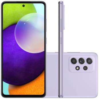 """Smartphone Samsung Galaxy A52 Tela Infinita 6,5"""" 128GB 6GB RAM Câmera Quádrupla 64MP Violeta"""