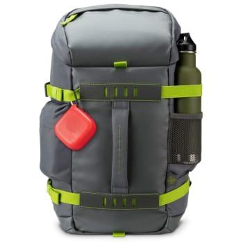 Mochila HP Odyssey para Notebook até 15,6´ - Resistente a água com bolso separado para notebook e costas acolchoadas - Cinza - L8J89AA