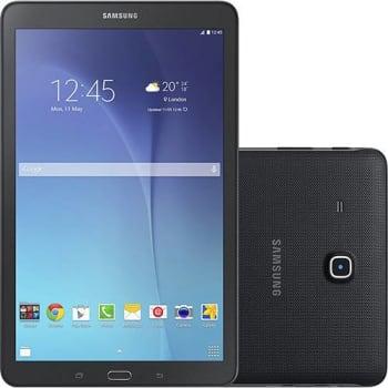 """Tablet Samsung Galaxy Tab E T560 8GB Wi-Fi Tela 9.6"""" Android 4.4 Quad-Core - Preto"""