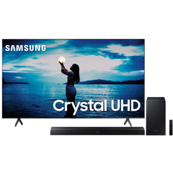 "Smart TV LED 65"" UHD 4K Samsung 65TU7020 + Soundbar Samsung HW-T550 com 2.1 canais - 320W"