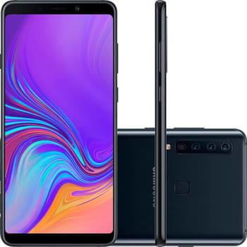 "Smartphone Samsung Galaxy A9 128GB Dual Chip Android 8.0 Tela 6.3"" Octa-Core 2.2GHz 4G Câmera 24MP (f1.7) + 5MP (f2.2) + 10MP (f2.4) + 8MP (f2.4) - Pr"