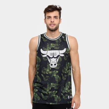 8b19f5e0cff72 Camiseta Regata New Era NBA Jersey Palm Camo Chicago Bulls - Preto ...