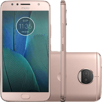 "Smartphone Motorola Moto G 5s Plus Dual Chip Android 7.1.1 Nougat Tela 5.5"" Snapdragon 625 32GB 4G 13MP Câmera Dual Cam - Ouro rosa"