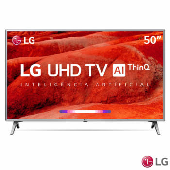 "Smart TV 4K LED 50"" LG 50UM7500PSB Wi-Fi Inteligência Artificial Conversor Digital 4 HDMI"
