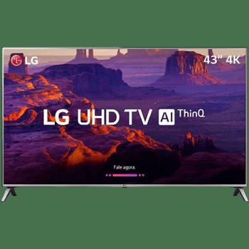 "Smart TV LED 43"" LG 43UK6510 Ultra HD 4k com Conversor Digital 4 HDMI 2 USB Wi-Fi"