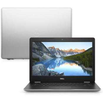 "Notebook Dell Inspiron I14-3481-m10s 7ª Geração Intel Core I3 4gb 1tb 14"" HD Windows 10 Mcafee Prata"