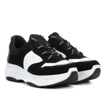 8456df9b66 Tênis Chunky Via Marte Dad Shoes Feminino - Preto e Branco em ...
