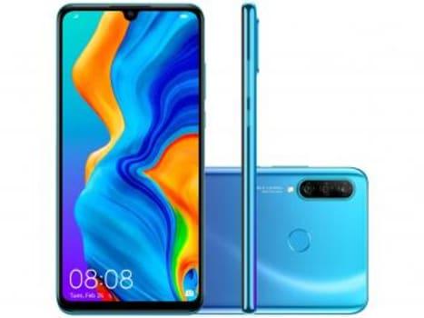 "Smartphone Huawei P30 Lite 128GB Azul 4G - 4GB RAM Tela 6,15"" Câm. Tripla + Câm. Selfie 32MP - Magazine Ofertaesperta"