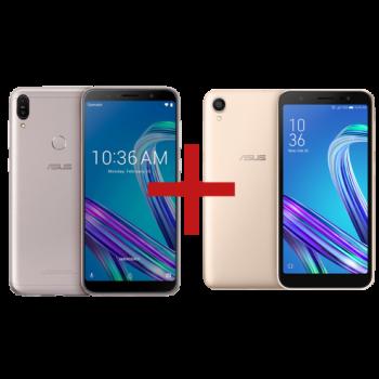 Zenfone Max Pro (M1) 3GB/32GB Prata + ZenFone Live (L1) Quadcore Dourado