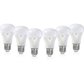 Kit com 6 Lâmpadas de LED 7W GE A60 Amarela Bivolt