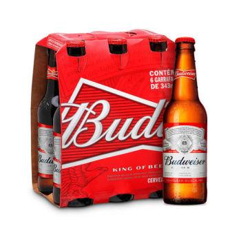 Cerveja Budweiser 343ml - Caixa com 6 unidades
