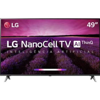 Smart TV LED LG 49'' 49SM8000 Ultra HD 4K NanoCell com Conversor Digital 4 HDMI 3 USB Wi-Fi 240Hz com Inteligência Artificial - Preta