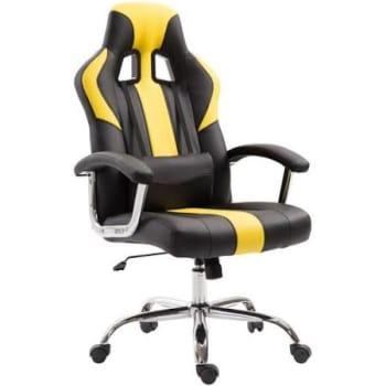 Cadeira de Escritório Gamer Dinamarca Amarela com PretoCadeira de Escritório Gamer Dinamarca Amarela com Preto