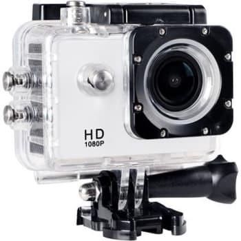 """Câmera Filmadora de Ação ONN 12MP Full HD Tela 1.5"""" Branca"""