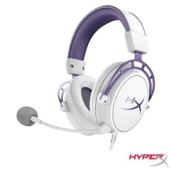Headset Gamer Cloud Alpha Branco e Roxo - Hyperx - HX-HSCA-PL