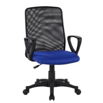 Cadeira de Escritório Alpha Color Azul Giratória com Braços Seatwell