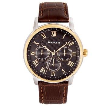 883443b4a69 Relógio Akium Masculino Couro Marrom - 03e59gl02b em Promoção no ...