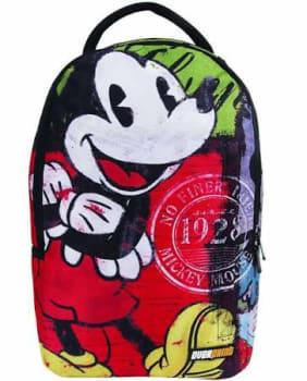 """Mochila G Mickey Vintage Overprint 30149 em Poliéster, Bolsos Laterais e Frontal, Organizador, Alças Acolchoadas, Estampado - Dermiwil"""