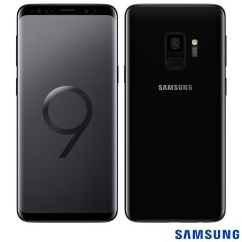 """Samsung Galaxy S9 Preto, com Tela de 5,8"""", 4G, 128 GB e Câmera de 12 MP - G960"""