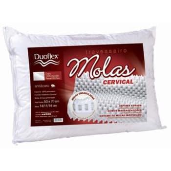 Travesseiro Molas Cervical, 100% Algodão MN2101 - Duoflex