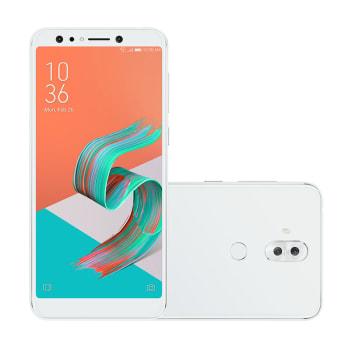 "Smartphone Asus Zenfone 5 Selfie Pro 128GB Branco 4G Tela 6"" Câmera 16MP Selfie 20MP Android Nougat 7.1.2"