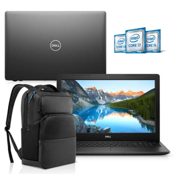 "Kit Notebook Dell Inspiron 3583-M3XBP 15.6"" 8ª Geração Core i5 8GB 1TB Windows 10 Preto + Mochila Pro"