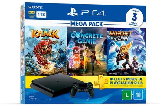 Console Mega Pack Family - Knack 2, Concrete Genie e Ratchet & Clank