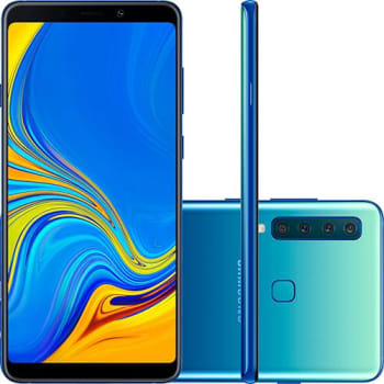 "Smartphone Samsung Galaxy A9 128GB Dual Chip Android 8.0 Tela 6.3"" Octa-Core 2.2GHz 4G Câmera 24MP (f1.7) + 5MP (f2.2) + 10MP (f2.4) + 8MP (f2.4) - Az"