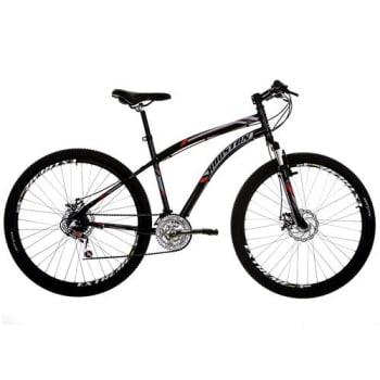 Bicicleta Aro 27,5 Houston Discovery 27.5 com 21 Marchas Suspensão Dianteira e Freio a Disco – Preta