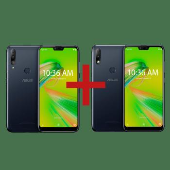 Zenfone Max Shot 4GB/64GB Preto + Zenfone Max Plus (M2) 3GB/32GB Preto