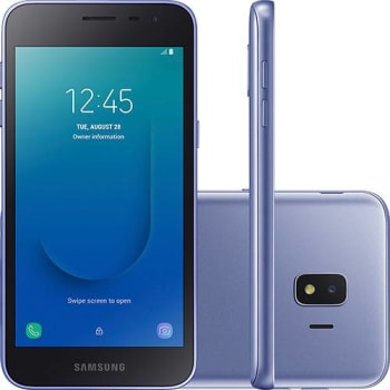 "Smartphone Samsung Galaxy J2 Core 16GB Dual Chip Android 8.1 Tela 5"" Quad-Core 1.4GHz 4G Câmera 8MP - Prata"